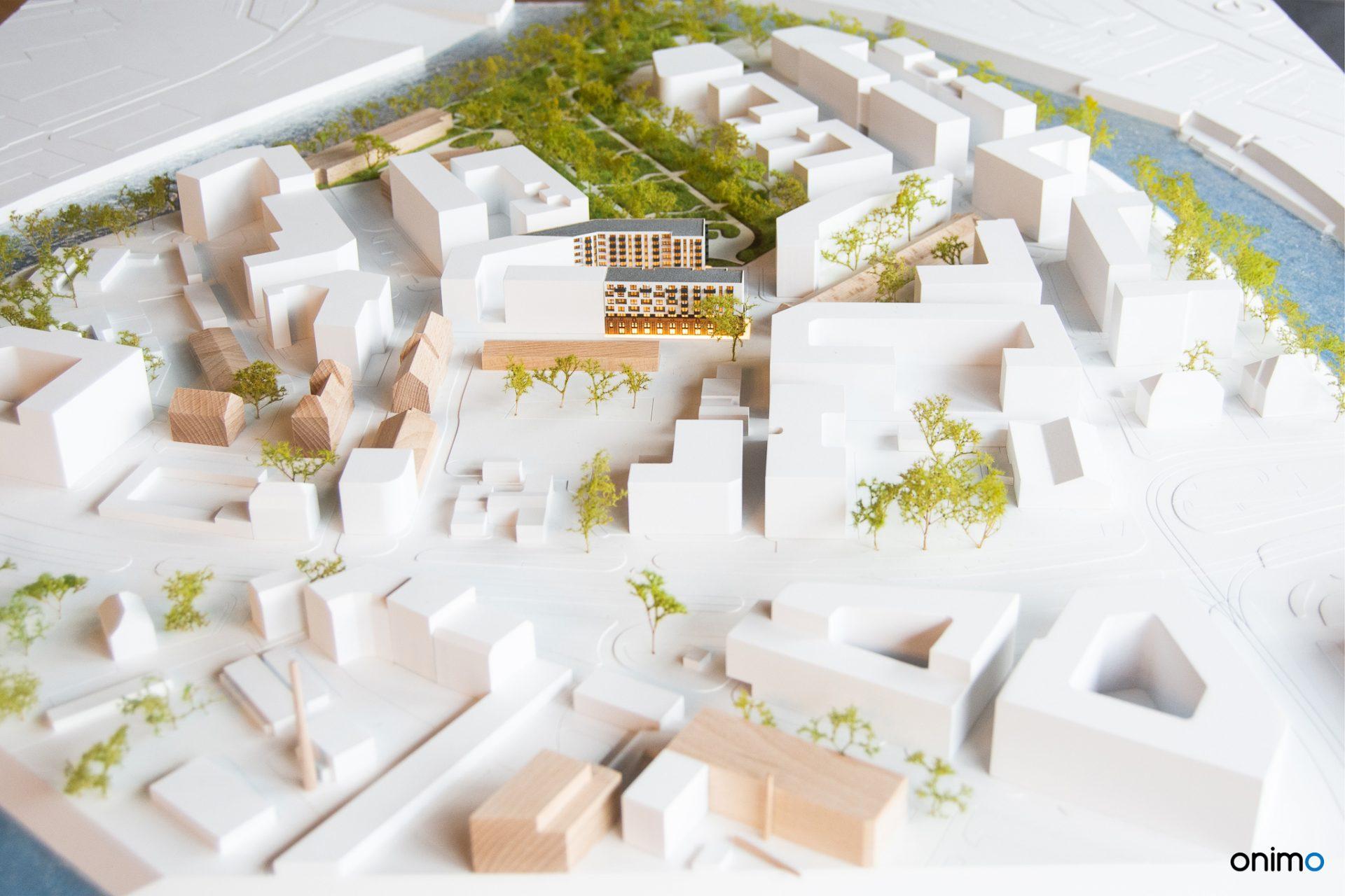 ATMO Kępa Mieszczańska | Eiffage | ONIMO Makiety Architektoniczne